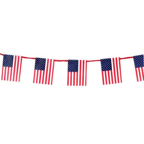 Dollhouse miniature American flag garland.