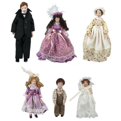Howard Family & Maid Dollhouse Dolls - Little Shop of Miniatures