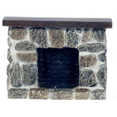 Fieldstone Dollhouse Miniature Fireplace - Little Shop of Miniatures