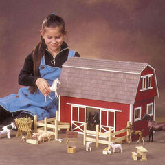 A barn dollhouse kit.