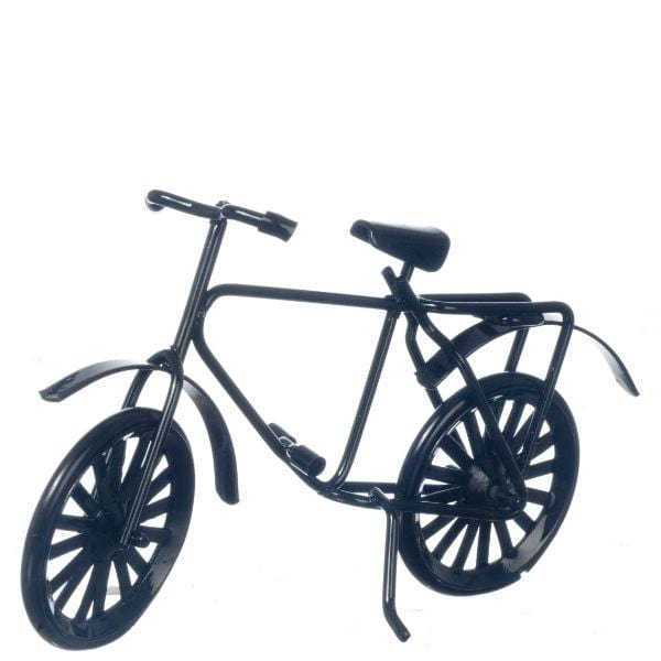 black dollhouse miniature bicycle