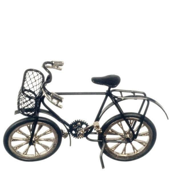 black dollhouse miniature kids bike