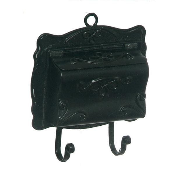black dollhouse miniature mailbox