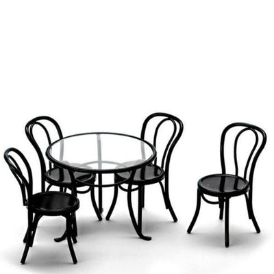 black metal dollhouse miniature patio set