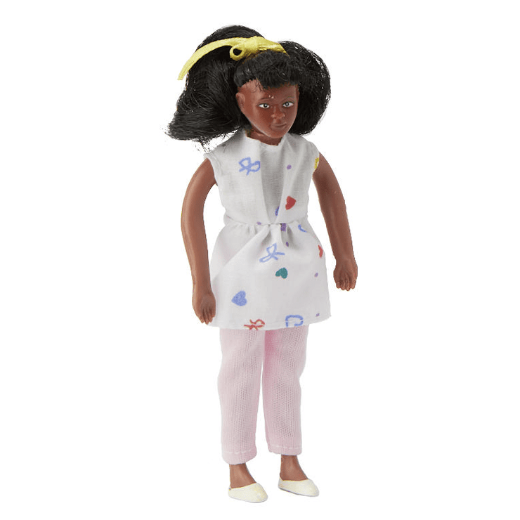 black dollhouse doll