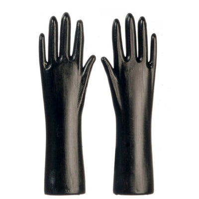 Black Dollhouse Miniature Cleaning Gloves - Little Shop of Miniatures