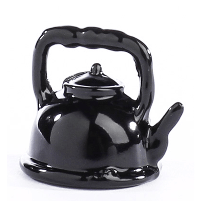 Black Dollhouse Miniature Teapot - Little Shop of Miniatures