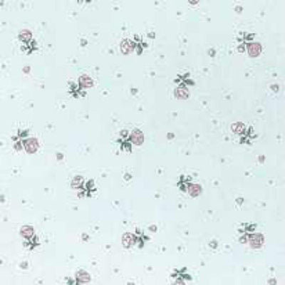 Cream Petite Fleur Dollhouse Wallpaper - Little Shop of Miniatures