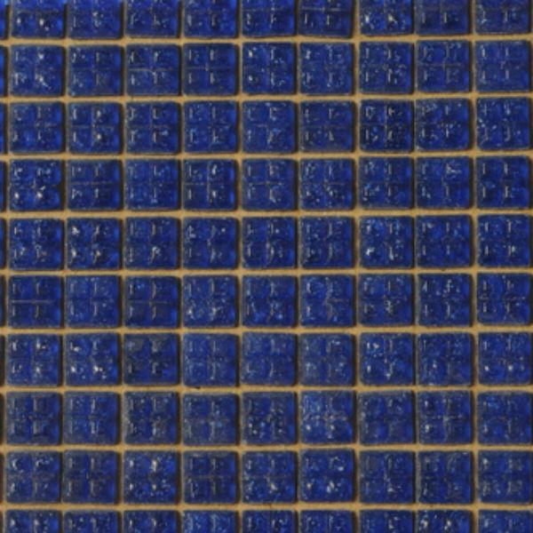 Dark Blue Glass Mosaic Dollhouse Tile Sheet