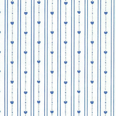 Dark Blue Heart Dollhouse Wallpaper - Little Shop of Miniatures