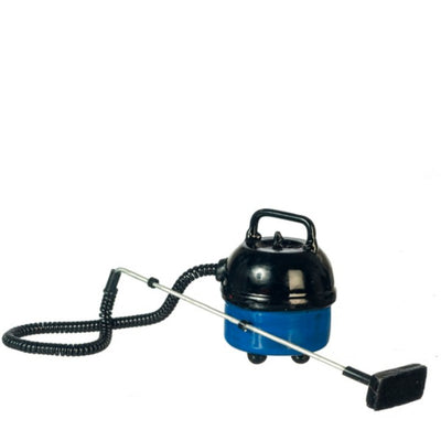 Blue Dollhouse Miniature Canister Vacuum Cleaner - Little Shop of Miniatures