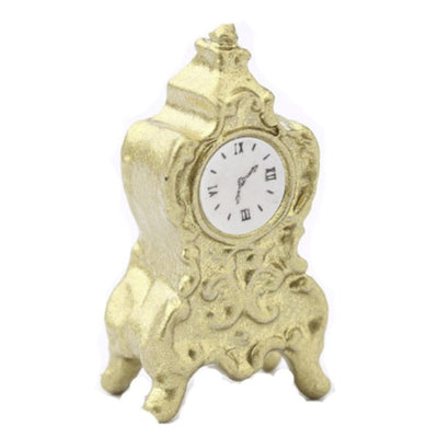 Brass Dollhouse Miniature Mantle Clock - Little Shop of Miniatures