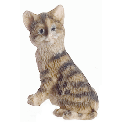 Brown Dollhouse Miniature Kitten - Little Shop of Miniatures