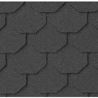dark gray dollhouse miniature shingles