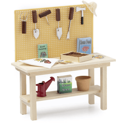 dolhouse minature potting bench
