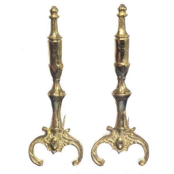 gold dollhouse andirons