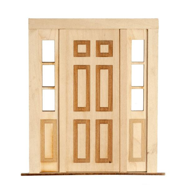 dollhouse double door with sidelights