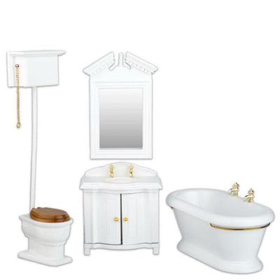 dollhouse furniture bathroom set