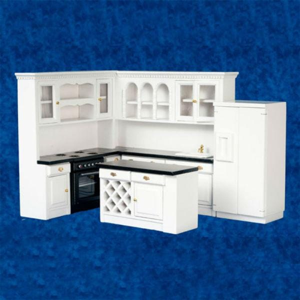 Dollhouse furniture kitchen set