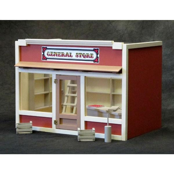 A dollhouse general store.