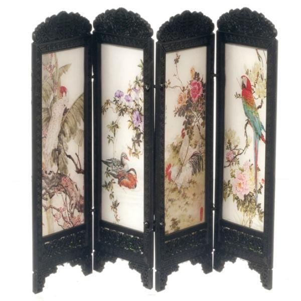dollhouse miniature Chinese screen