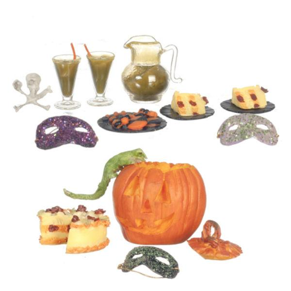 dollhouse miniature Halloween party accessories