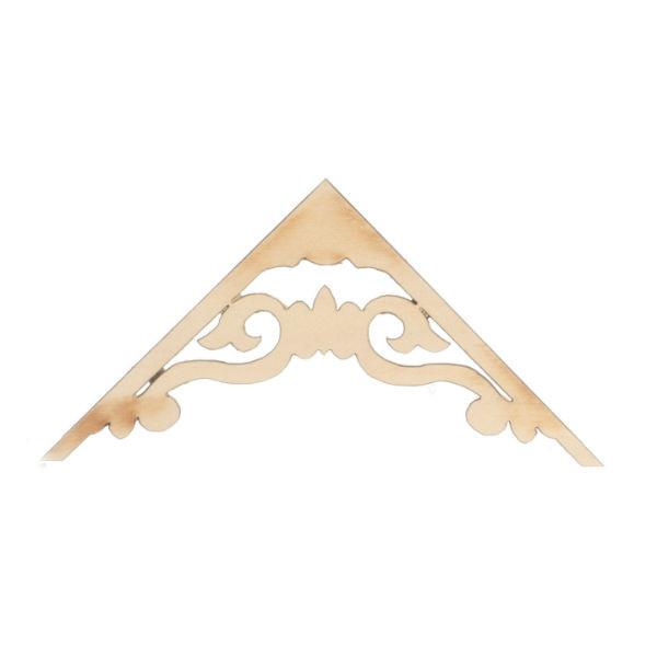 Dollhouse miniature wood apex trim.