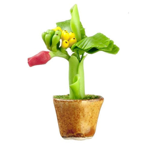 dollhouse miniature banana plant