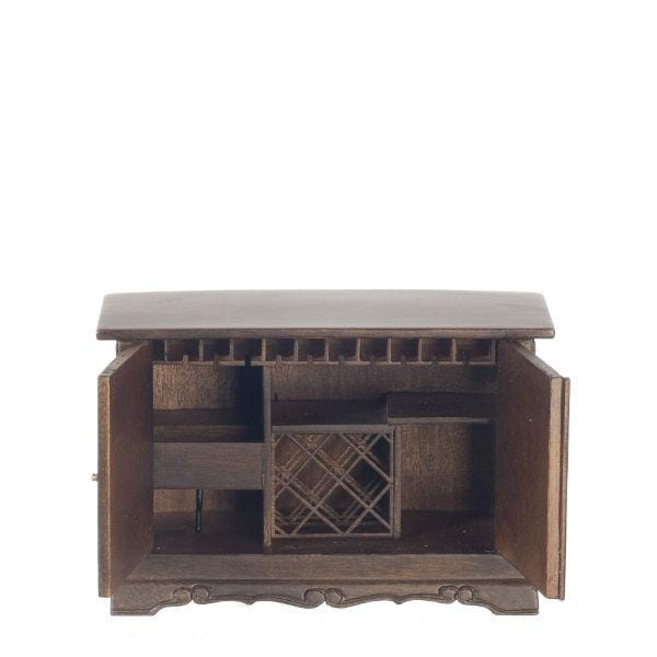 dollhouse miniature bar cabinet