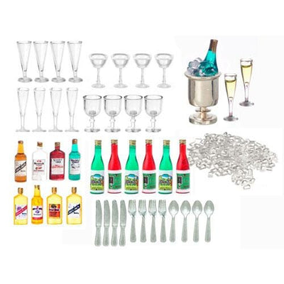 Dollhouse Miniature Bar Accessories - Little Shop of Miniatures