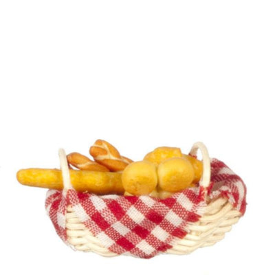 dollhouse miniature basket of bread