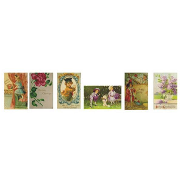 dollhouse miniature birthday cards