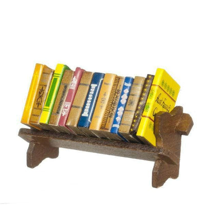 Dollhouse Miniature Book Rack with Books - Little Shop of Miniatures