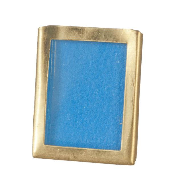dollhouse miniature brass picture frame