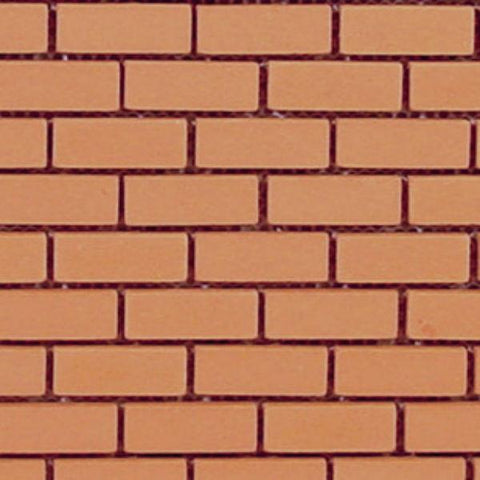 A mesh sheet of dollhouse miniature bricks.