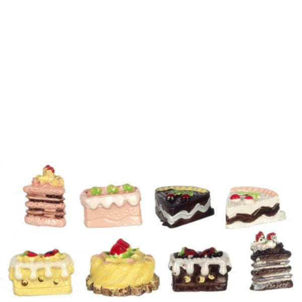 dollhouse miniature cake slices