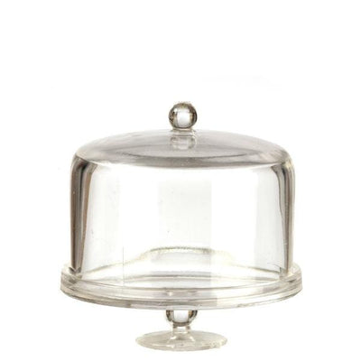 dollhouse miniature cake stand with dome