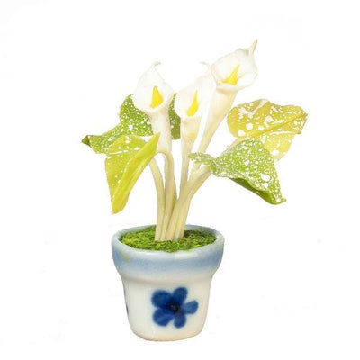 White Dollhouse Miniature Calla Lily - Little Shop of Miniatures