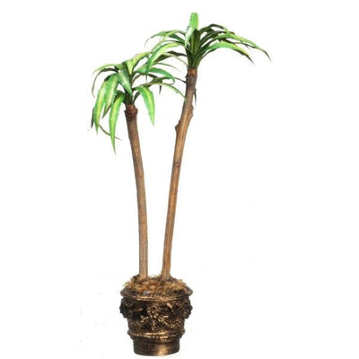 dollhouse miniature cane tree in a round planter
