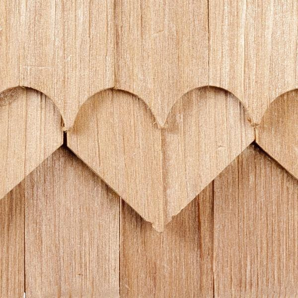 dollhouse miniature cedar heart shingles