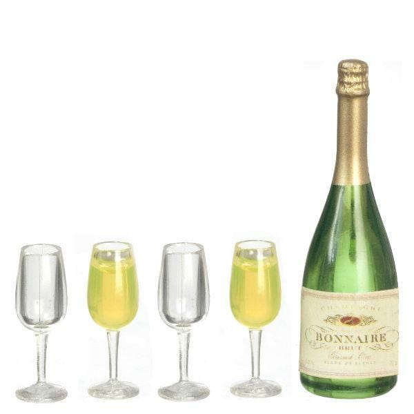 dollhouse miniature champagne