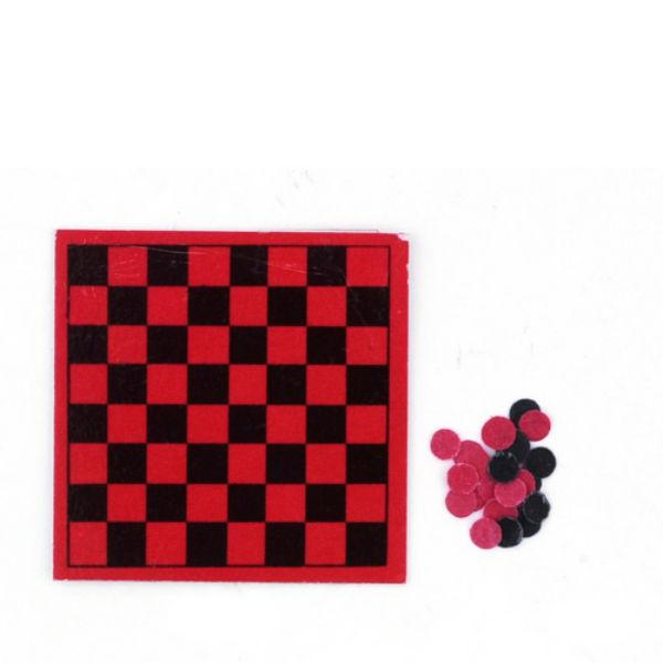dollhouse miniature checkerboard