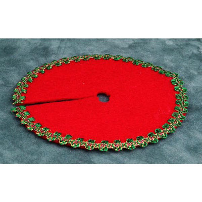 Red Dollhouse Miniature Christmas Tree Skirt - Little Shop of Miniatures