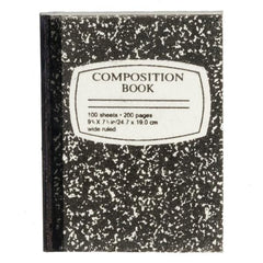dollhouse miniature composition notebook