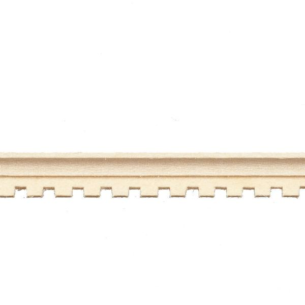 dollhouse miniature cove dentil molding