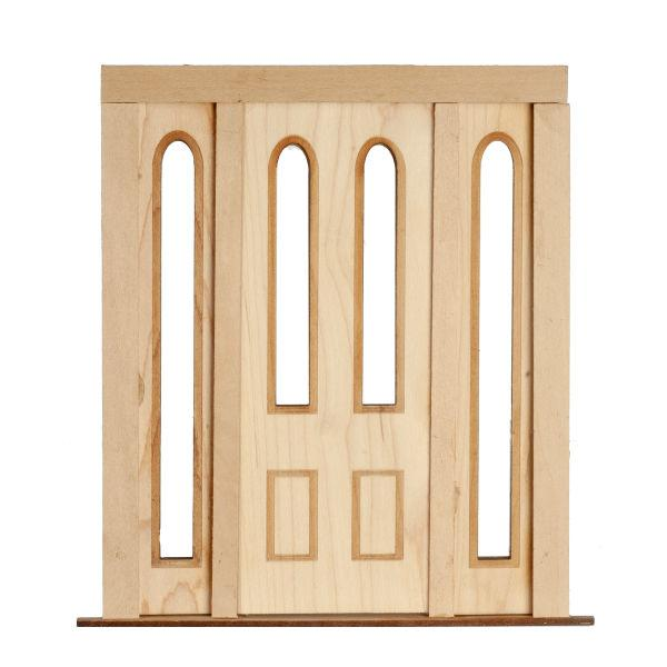 dollhouse miniature door with sidelights