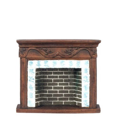 dollhouse miniature fireplace
