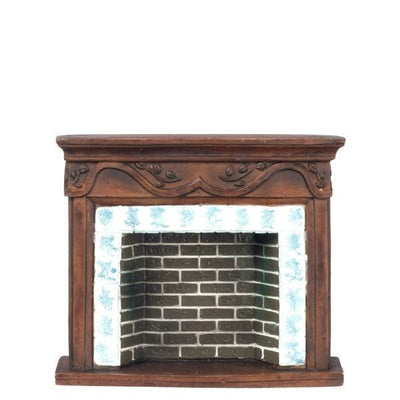 Resin Dollhouse Miniature Fireplace - Little Shop of Miniatures