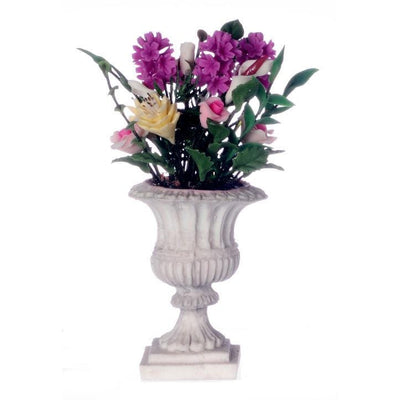 Dollhouse Miniature Grand Flower Arrangement in Urn - Little Shop of Miniatures