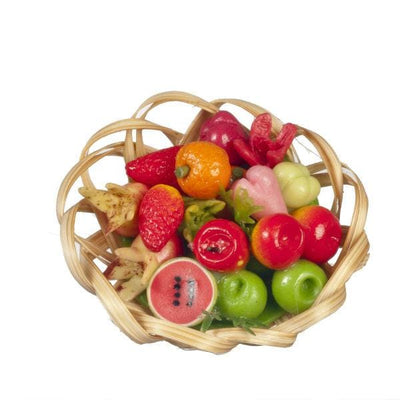 dollhouse miniature fruit and vegetable basket